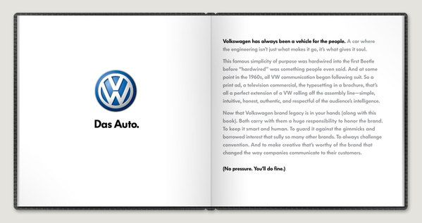 VW Brand Book by Eric Hollings, via Behance