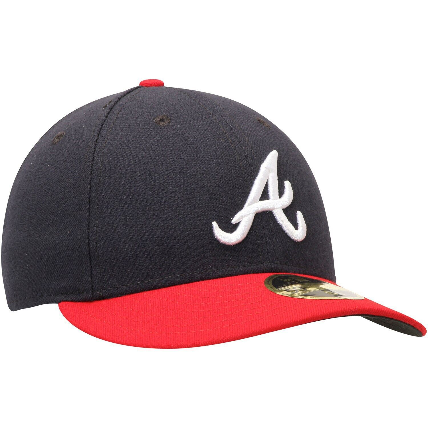 Men S New Era Navy Red Atlanta Braves Home Authentic Collection On Field Low Profile 59fifty Fitted Hat Affiliate Atlanta Ad Atlanta Braves Vintage Fashion Style