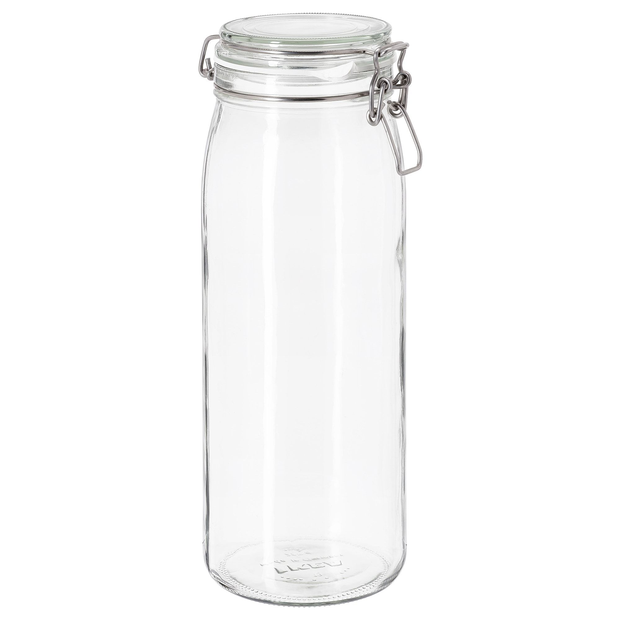 IKEA KORKEN Masson Jar with Lid Clear Glass Food Storage with Rubber Seal