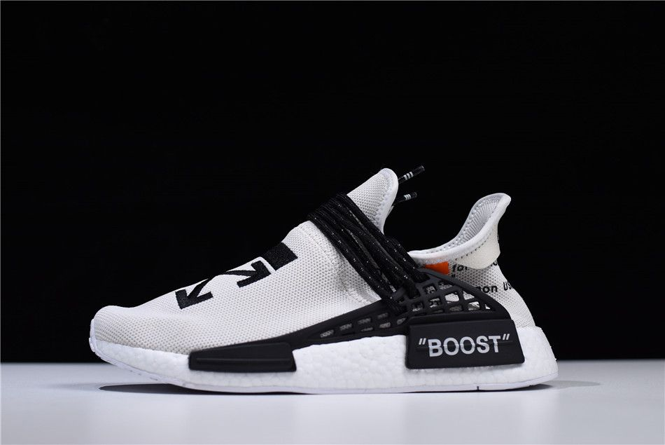 16892001304db Virgil Abloh s OFF-WHITE x Pharrell x adidas NMD Hu Race Trail Black White  BB7725 – New Yeezy 2018
