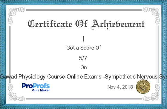 Score Report Dr Gawad Physiology Course Online Exams Sympathetic Nervous System At Free Online Quiz School Quiz Online Quiz Cosmetology State Board