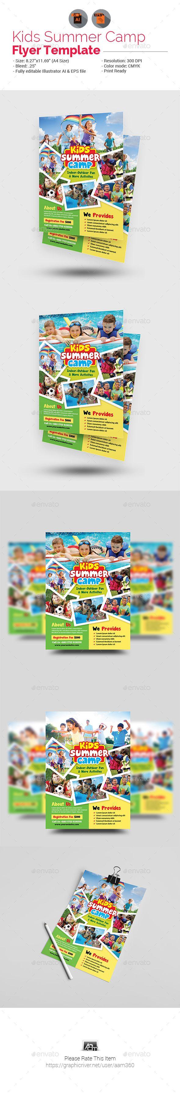 Kids Summer Camp Flyer | Campamento