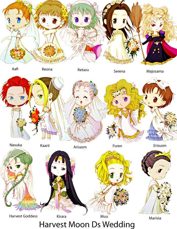 wedding ds with Japanese names | Harvest Moon <3 | Harvest