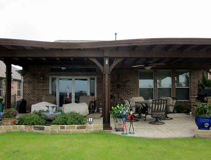 Patio covers for small backyards patio covers in dallas for Small patio shade ideas