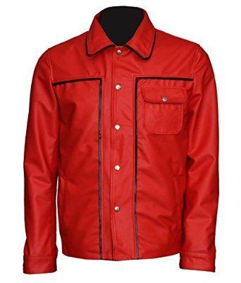 c8706216dc8ea Elvis Presley Red Men's Celebrity leather Jacket at Amazon Men's ...