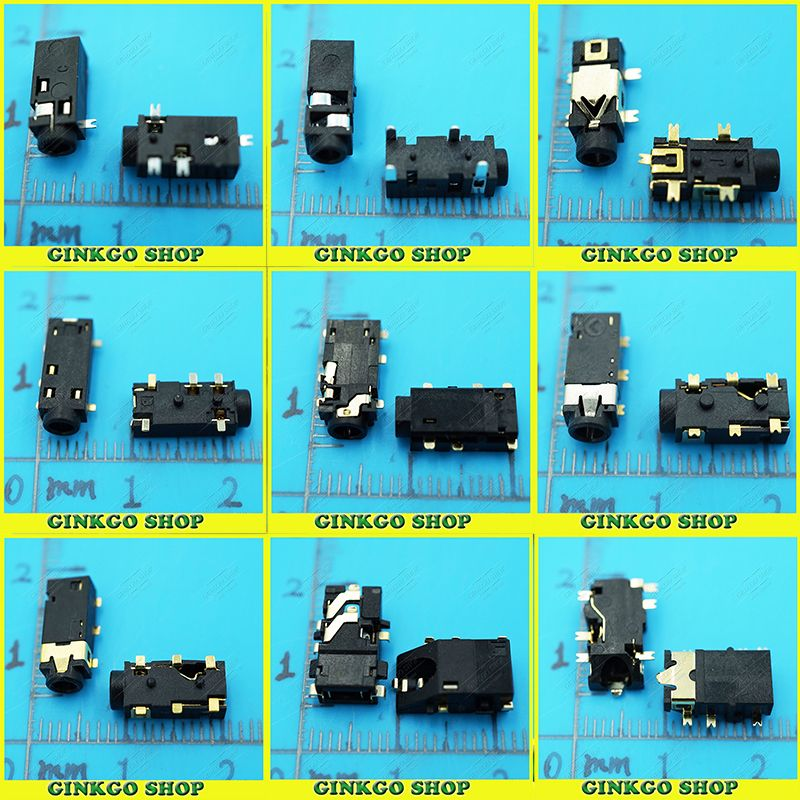 9Models, 45pcs/lot 2.5mm Audio Jack, Audio connector, Female ...