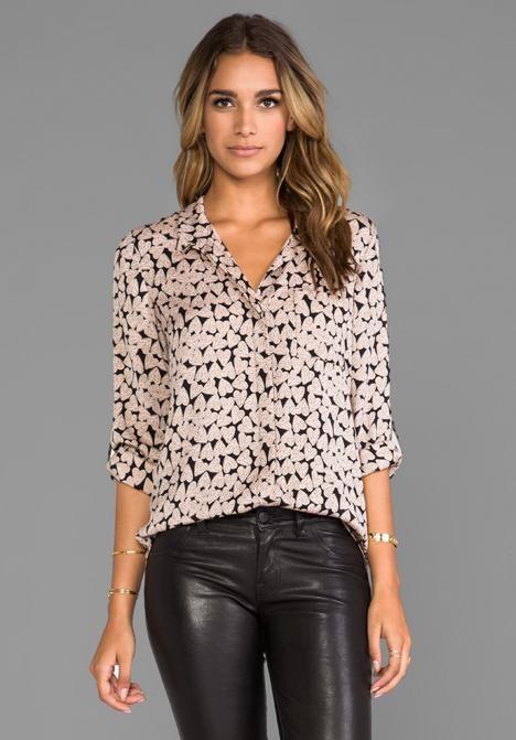 fb04469e86f908 Diane Von Furstenberg Lorelel Print Shirt | Effortless Style ...