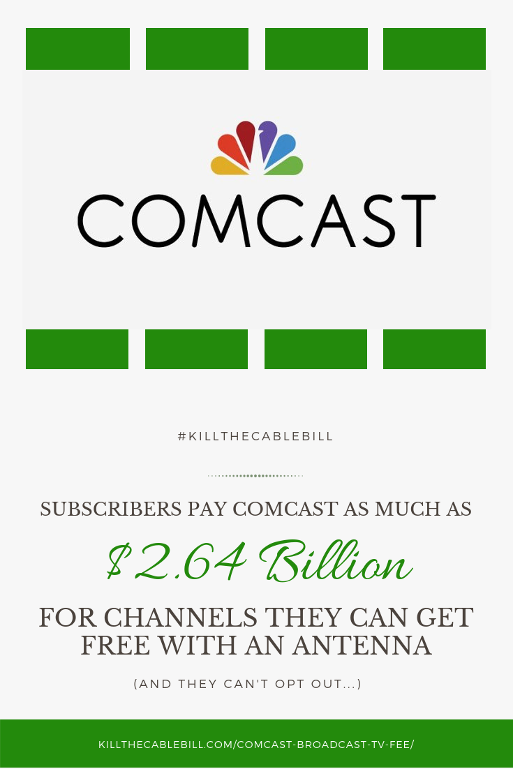 Comcast Subscribers Pay Up To 2 64 Billion A Year For Over The