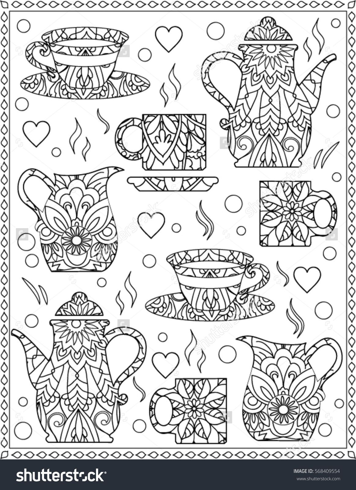 Coffee Cup Coloring Page Shutterstock 568409554 Coloring Pages Pattern Coloring Pages Free Coloring Pages [ 1600 x 1164 Pixel ]