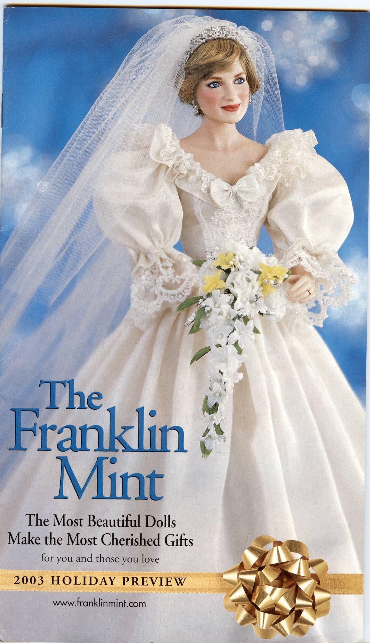Franklin Mint Catalog Princess Diana Bridal Doll
