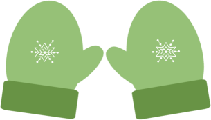 christmas green winter mittens clip art clip art christmas 1 rh pinterest com mittens clip art images mitten clip art black and white