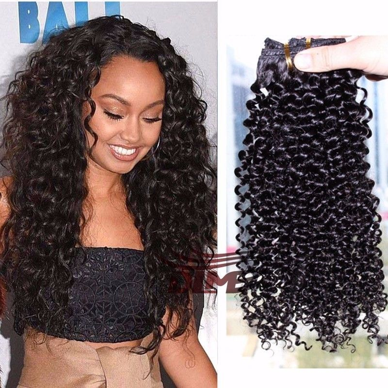 Clip Human In Hair Extensions 8pcsset Peruvian African American