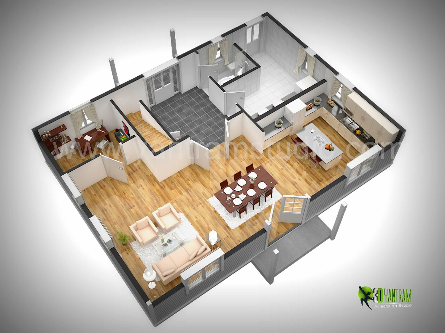 3d floor plan rendering 3d floor plan design cg Rendering floor plans