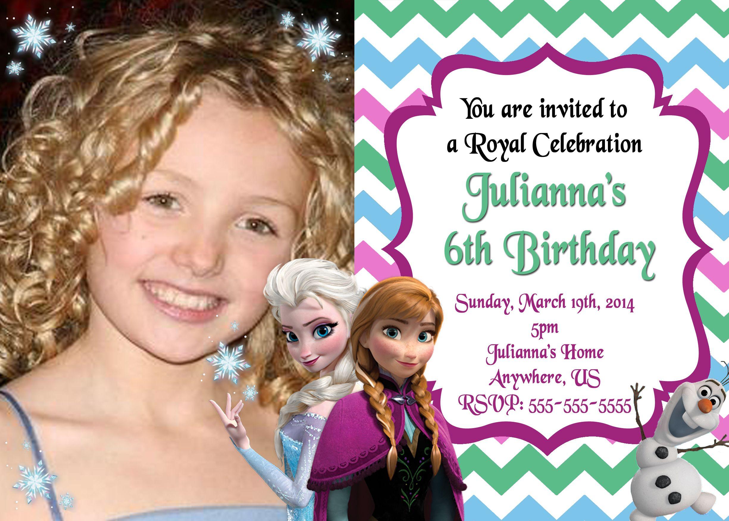 Disney Frozen Invitations $8.99   Disney Frozen Movie Birthday ...