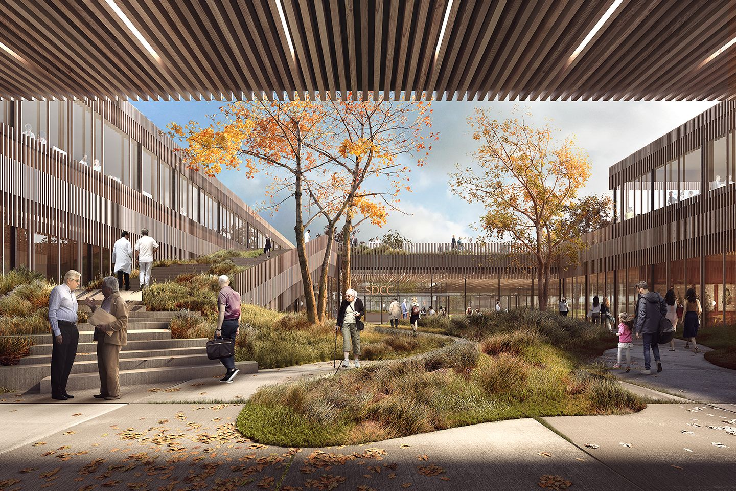 Designed By Vilhelm Lauritzen Architects Mikkelsen Architects The Team Of Cowi A Healthcare Architecture Architecture Visualization Landscape Architect