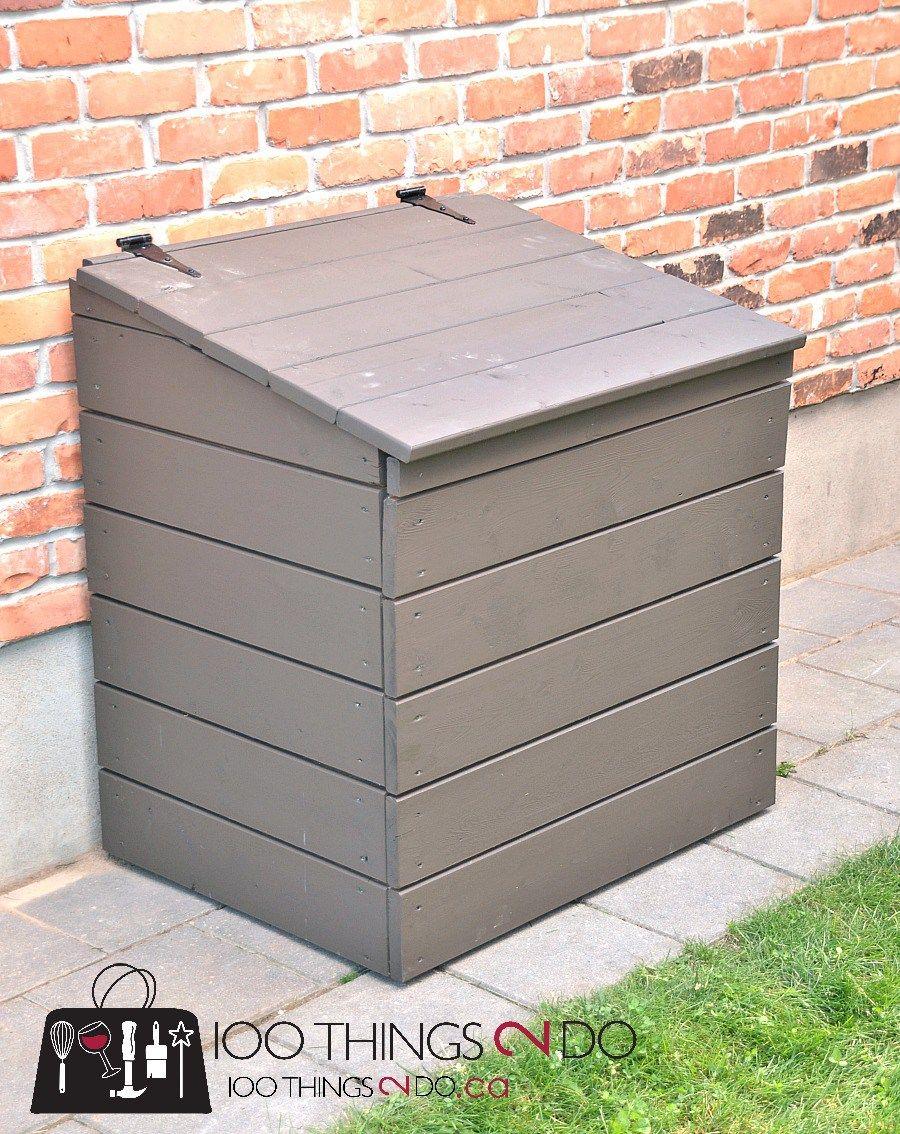 Diy Outdoor Garbage Bin Outdoor Garbage Storage Garbage Can