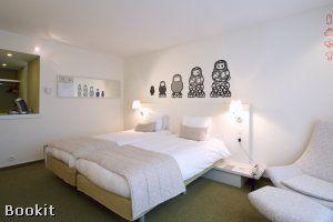 Hotel BLOOM! te Brussel.     De prachtige ruime en lichte kamers beschikken over unieke muurfresco's, geschilderd door jonge getalenteerde artiesten van Europese kunstscholen.