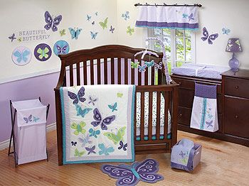 nojo beautiful butterfly 9 piece crib bedding set nojo babies r us can 39 t wait to meet. Black Bedroom Furniture Sets. Home Design Ideas