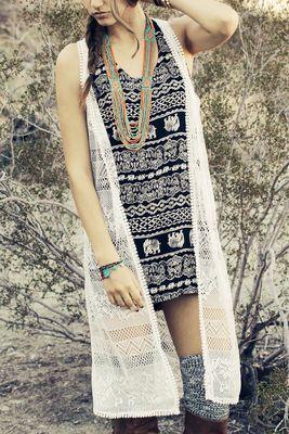 Gypsy Lace Vest