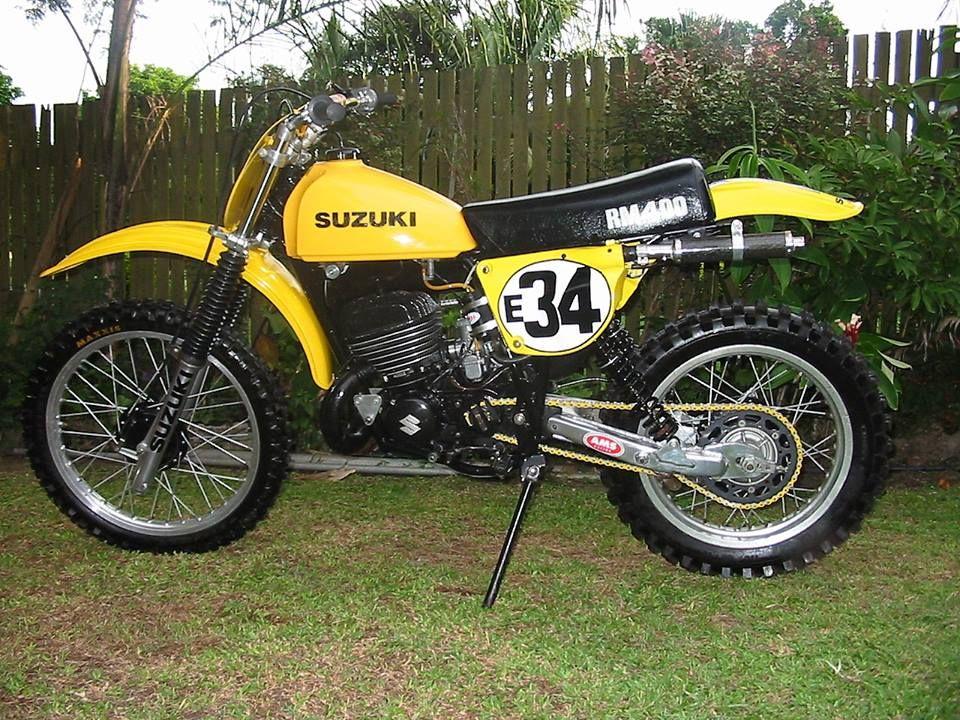 1978 Suzuki RM250C2 with aftermarket swingarm (With
