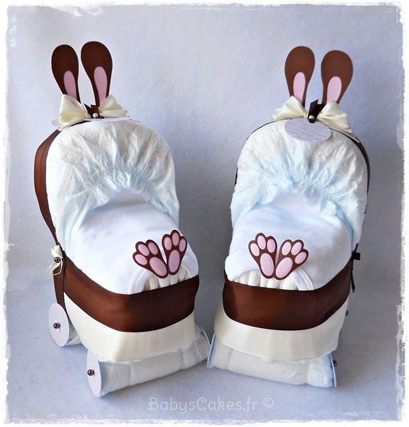 id e cadeau pour baby shower mini landau de couches. Black Bedroom Furniture Sets. Home Design Ideas