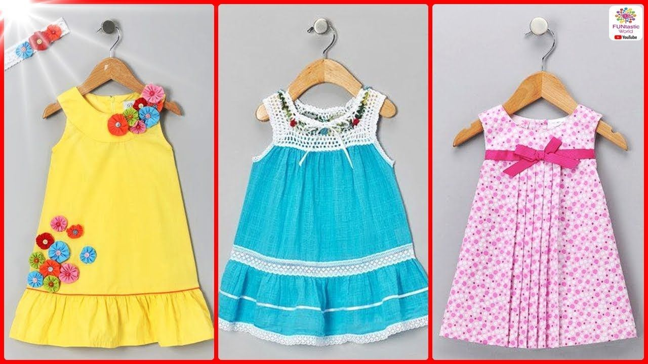 b584a2abc3b1 Top Cotton Summer Frocks Designs for Kids - Simple Kids Cotton ...