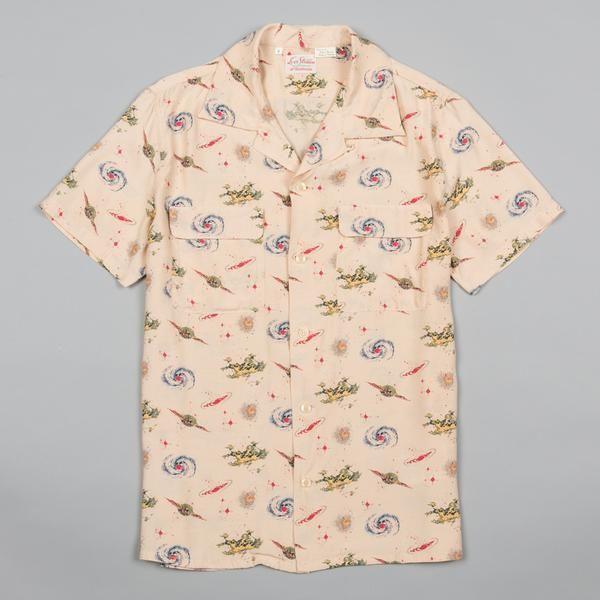 0140a9d0 LEVI'S VINTAGE CLOTHING-1940S HAWAIIAN SHIRT UNIVERSE BEIGE-Supply & Advise