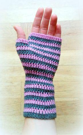 Fingerless Mittens Crochet Pattern Crochet Pinterest Mittens