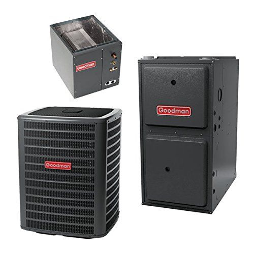 3 5 Ton 16 Seer Goodman 100 000 Btu 96 Afue Gas System Split System Air Conditioner Heating Systems Air Conditioning System