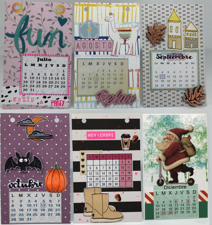 Calendario 2018 con marco de Ikea. Julio, agosto, septiembre ...