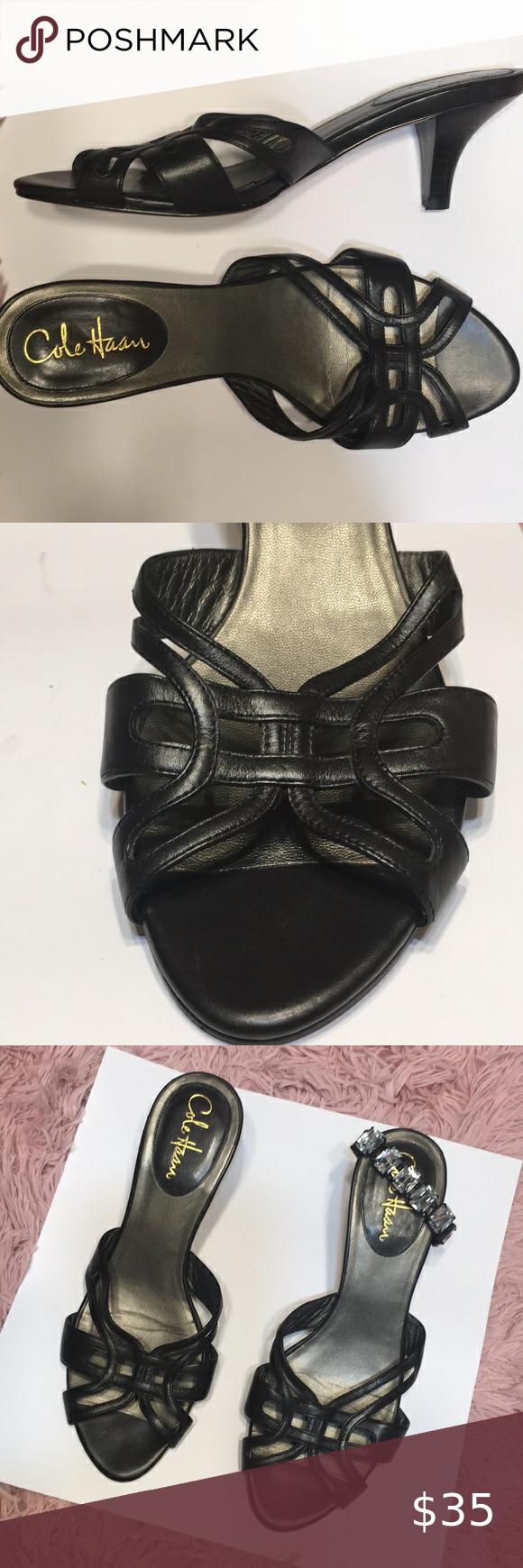 Black Kitten Heel Shoe Cole Haan Nike Air Size 9 In 2020 Black Kitten Heels Kitten Heel Shoes Kitten Heels