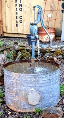 Custom Made Rustic Water Fountain The Blue Pump Fountain Design Fountain Water Features In The Garden