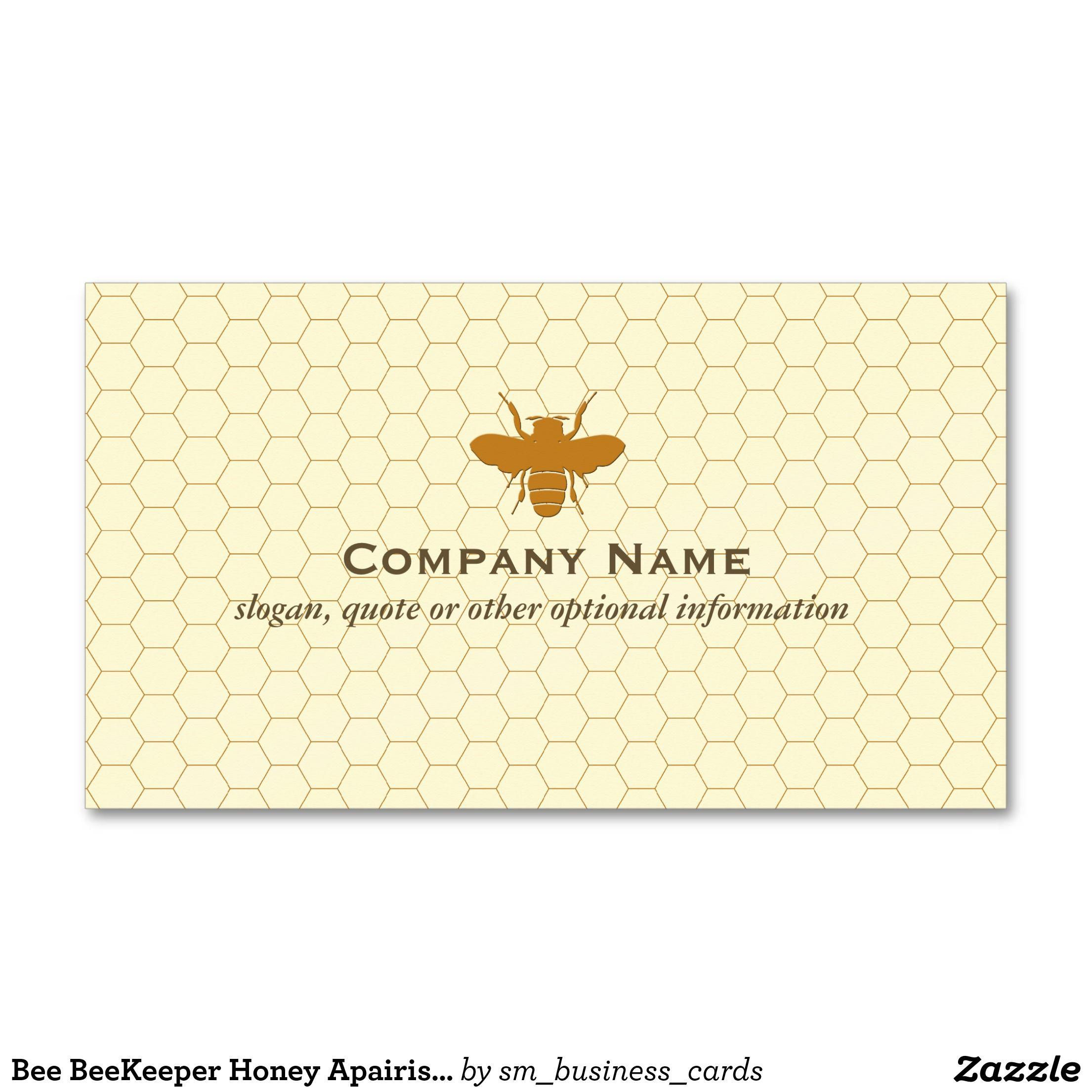 Bee BeeKeeper Honey Apairist Business Card | Pinterest | Business ...