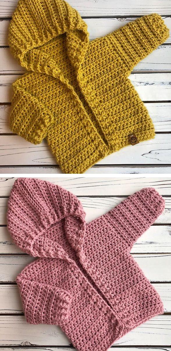 Crochet baby Hoodie - Design Peak