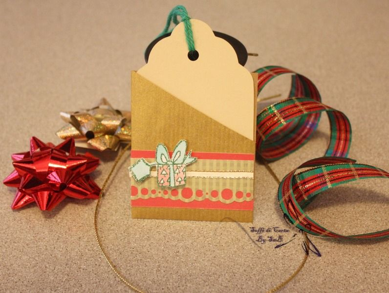 Tag Natalizia con bustina decorata di Soffi di Carta By Sab su DaWanda.com
