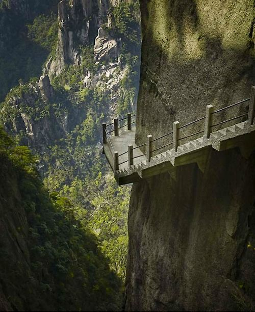 Cliffside Steps, Hunan, China  photo