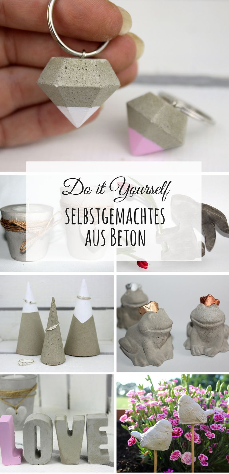 diy die sch nsten do it yourself ideen aus beton diy basteln selbermachen beton gips. Black Bedroom Furniture Sets. Home Design Ideas