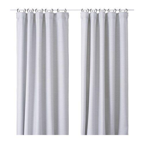 VILBORG Curtains, 1 pair Light grey 145x250 cm - Foto