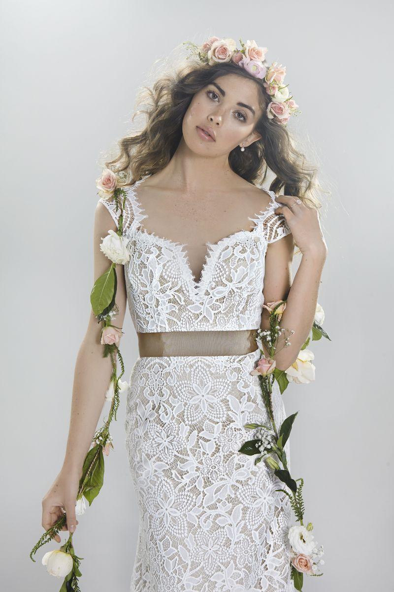 Lillian West Mit Nude Ton Im Boho Stil Cinderella Brautmode