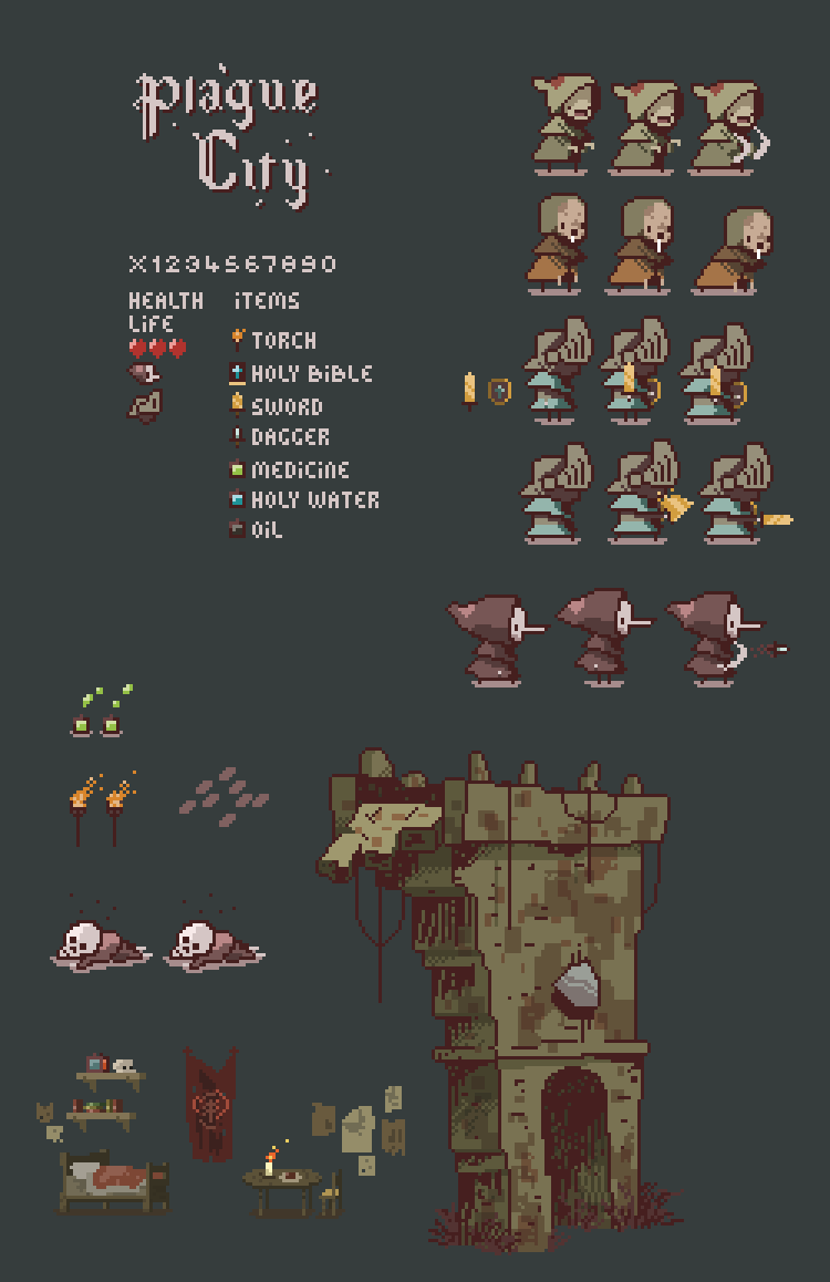 junk gallery | here's the graphic assets of my shitty prototype....