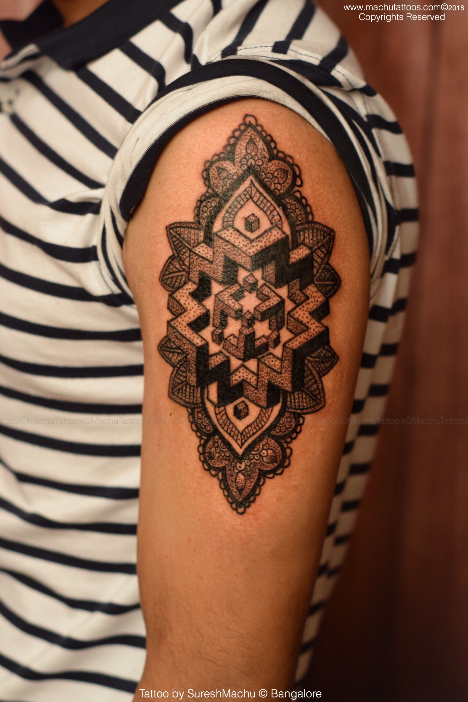 Mandala tattoo work by suresh machu from machu tattoo