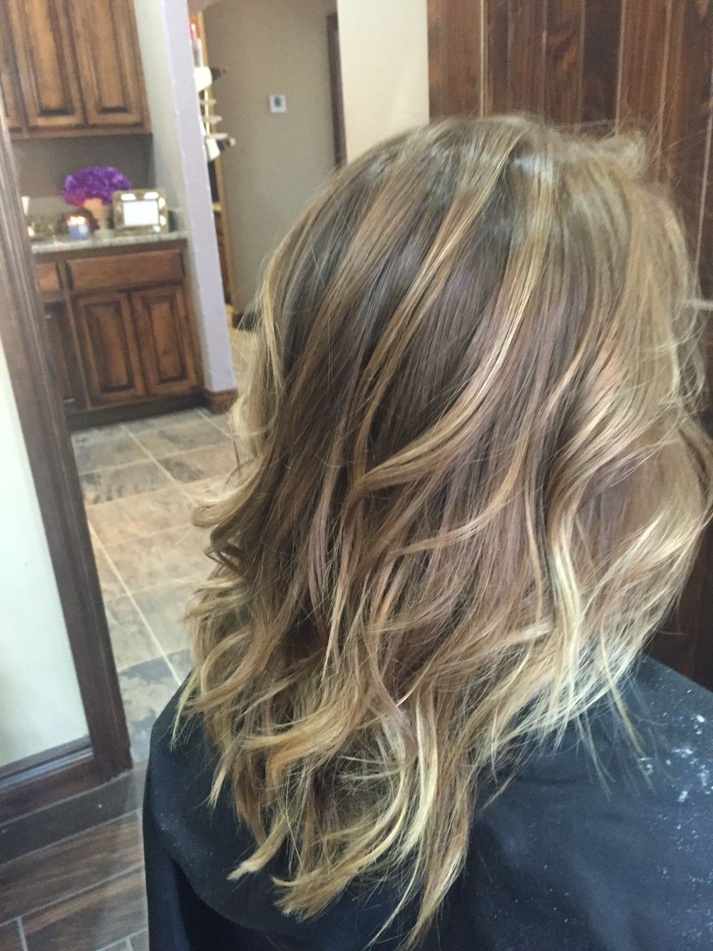 Light Brown With Honey Highlights B E A U T Y Dyed