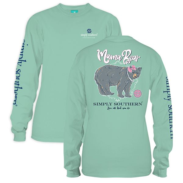 58d977686 Simply Southern Mama Bear Long Sleeve Shirt | for Caina | Long ...