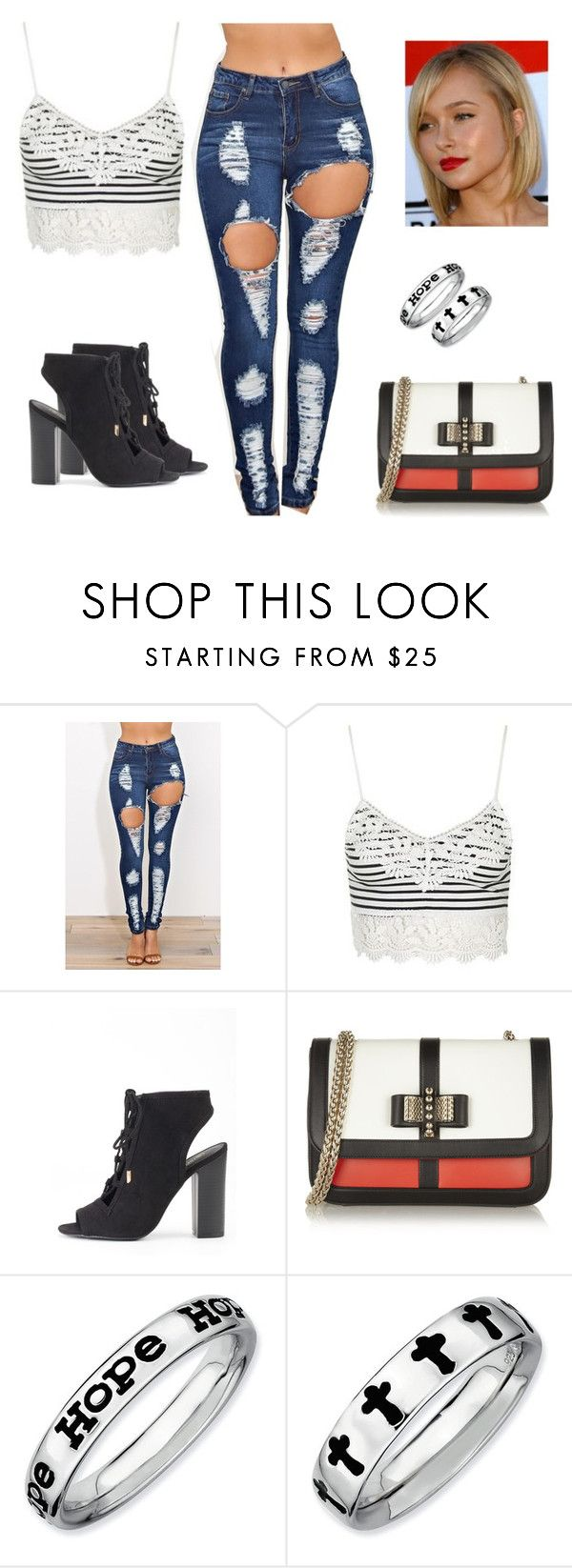 """""""#27"""" by sndrita ❤ liked on Polyvore featuring Topshop, Christian Louboutin and Expressions"""