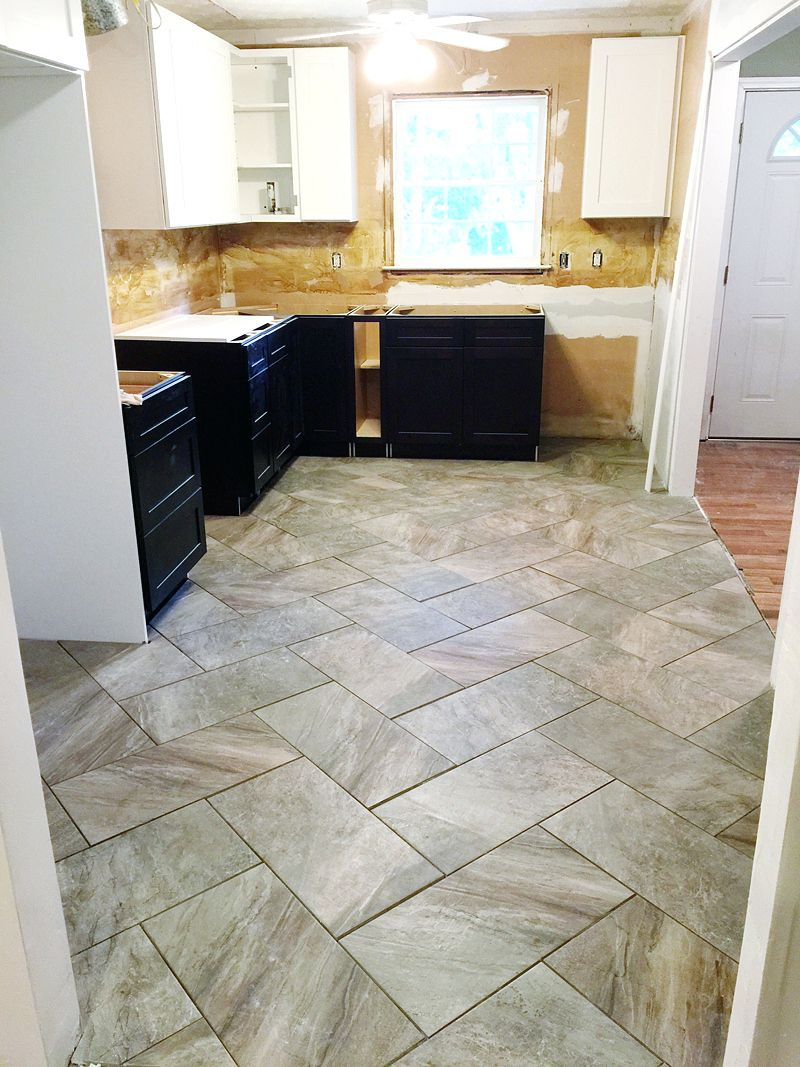 Tiles:Kitchen Floor Tile Patterns 12x24 Kitchen Tile Layout Design ...
