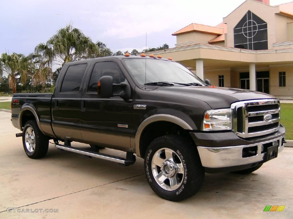 Ford superduty 2005 ford f250 super duty lariat crew cab 4x4 dark stone metallic