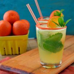 A beat the heat refreshing Tangerine Mojito