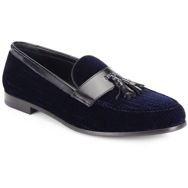 630ec8b3b3d Men s Shoes · Giorgio Armani Textured Velvet Tasseled Loafers   Giorgio  Armani Shoes ( 875) ❤ liked on