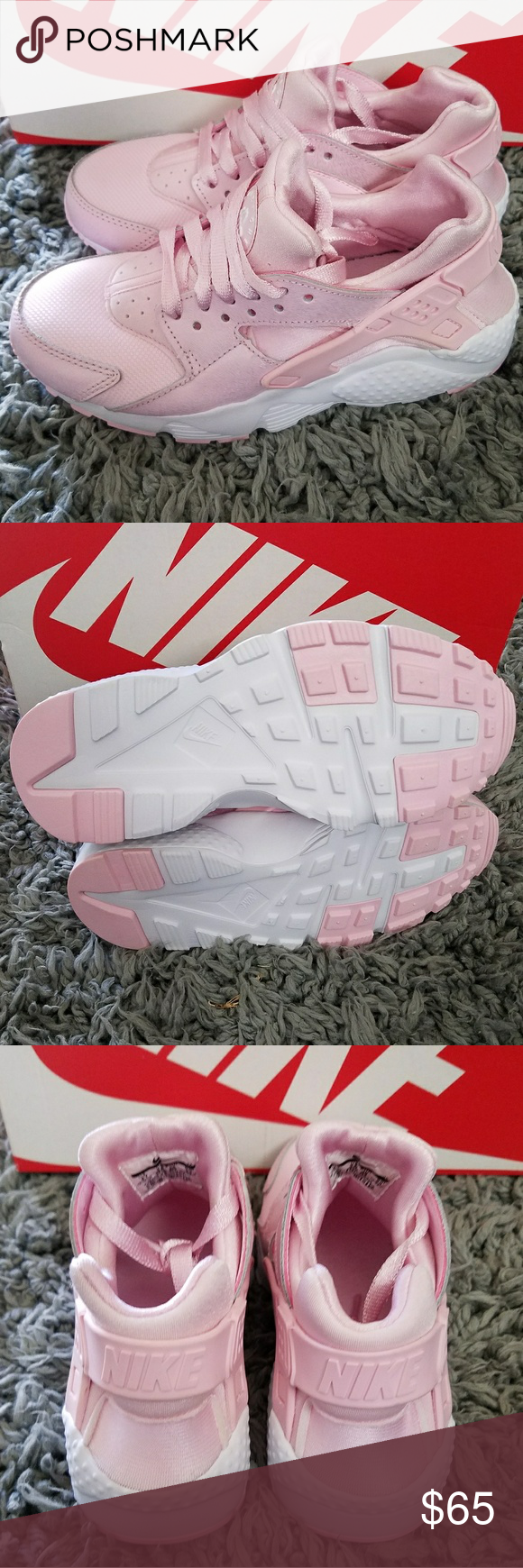 27699eb05d2d NIKE HUARACHE RUN SE PINK PRISM Sz 4Y NEW WITH BOX color PRISM PINK WHITE
