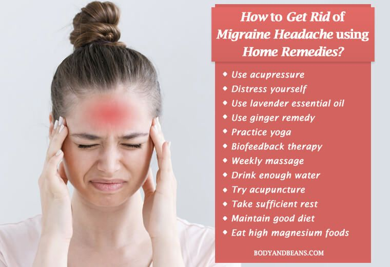 how to get rid of migraine headaches